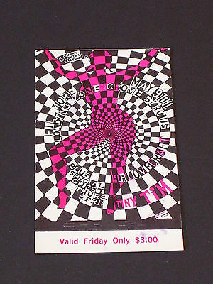 H.P. LOVECRAFT Psychedelic FILLMORE TICKET by WEISSER BG119