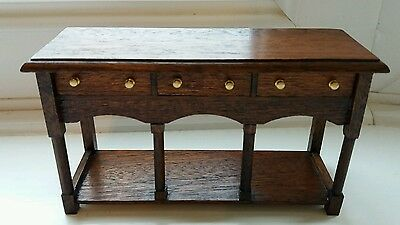 Dolls House Miniature 1/12 Beautiful Handmade Sideboard - Opening Drawers