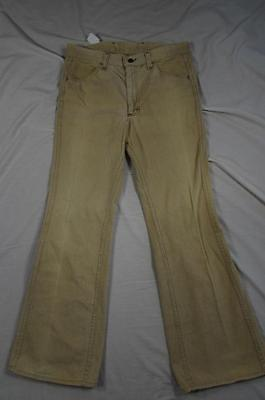 Vtg 70s Lee USA Made Wide Leg Bell Bottom Brushed Cotton Pants Measure 33x31.5