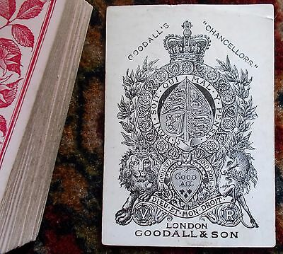 "Antique Playing Cards    ""  GOODALLS CHANCELLORS ""   52 / 52    c.1870s"