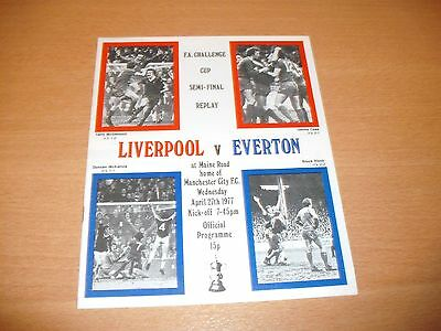 1977 FA CUP SEMI FINAL REPLAY LIVERPOOL v EVERTON  PROGRAMME