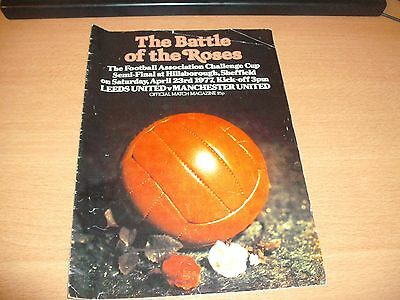 1977 FA CUP SEMI FINAL LEEDS UNITED v MANCHESTER UNITED  PROGRAMME