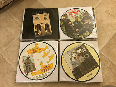 """THE BEATLES COMPLETE 22 7"""" VINYL SINGLE PICTURE DISC 20th ANNIVERSARY SET HELP"""