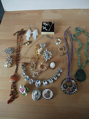 Job Lot of Silver and Costume Jewellery, Vintage and Recent 23 Items