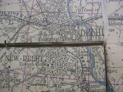 Survey of India map New Delhi Meerut Moradabad Roorkee Amroha 4 sheets joined