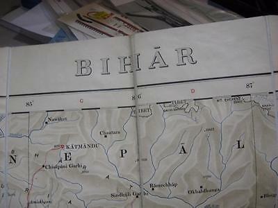1938 map India Bihar road map Calcutta Patna Ranchi very good condition map