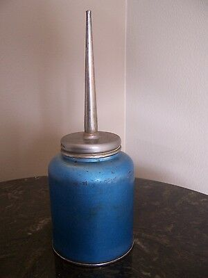 "Eagle  Blue Oil Can~~Made In U S A ~Vintage   8"" Tall  Good Condition  Clean"