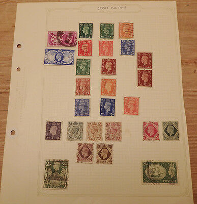 Page of 27 GB Definities Stamps used George VI
