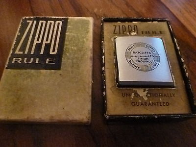 Zippo Advertising Rule Ratcliffs Brass & Copper Tipton