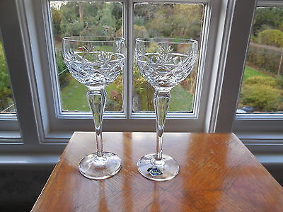 2 Royal Brierley Hock Glasses in Bruce pattern signed