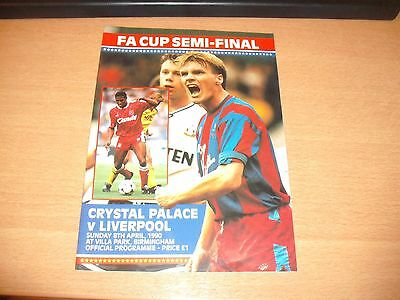 1990 FA CUP SEMI FINAL CRYSTAL PALACE v LIVERPOOL PROGRAMME