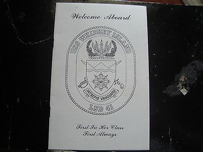 Vintage Welcome Aboard Pamphlet Uss Whidbey Island Lsd 41 Intrepid Vanguard