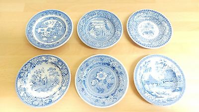 "[6] Spode Blue Room Georgian Series Miniature Plates Dia 3"" / 8cm Various VGC"