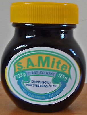 """Oddball MARMITE Jar """"S.A. Mite"""" New Zealand-retailed South African made MARMITE"""