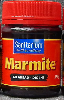 MARMITE Jar New Zealand-Made 250 Gram Marmite Product PAIN in the ASS For UK :-(