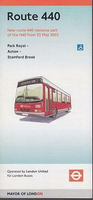 Route 440 London Transport Bus Timetable Lft MAY 2002