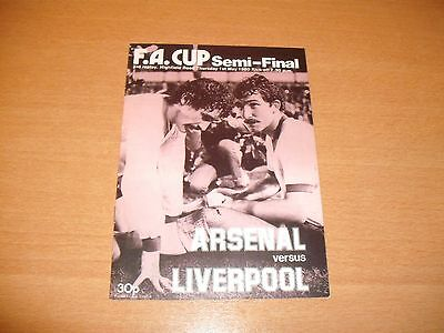 1980 FA CUP SEMI FINAL 3RD REPLAY ARSENAL v LIVERPOOL PROGRAMME
