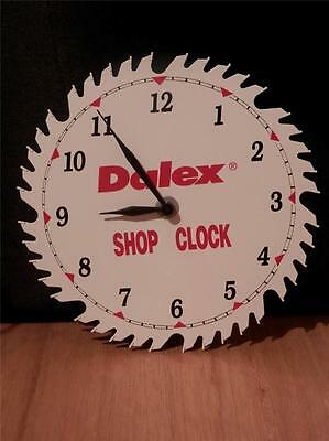 DALEX Advertising Enameled Actual Saw Blade SHOP CLOCK~Man Cave Must Have!~EUC