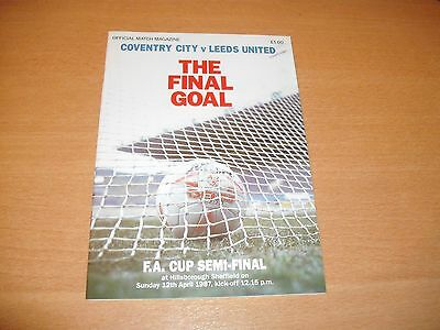 1987 FA CUP SEMI FINAL COVENTRY CITY v LEEDS UNITED   PROGRAMME