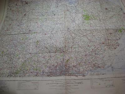 London Ipswich Nottingham Coventry WW2 GSGS Map East Anglia