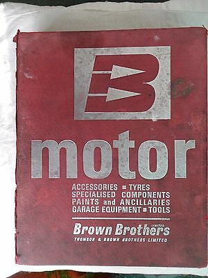 BROWN BROTHERS Accessories & Garage Equipment Catalogue 1970?