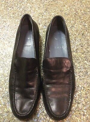 Black Leather Flats By Bally Size 8/41