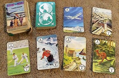 Pepys Card Game Round The World Vintage Pepys Playing Cards / Game Comet 4 Plane