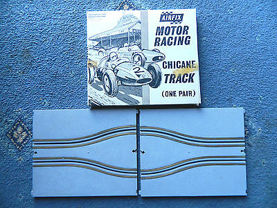 Classic Vintage Airfix Motor Racing Chicane Track One Pair Boxed