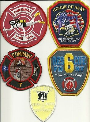 5 Company Fire Patches #53