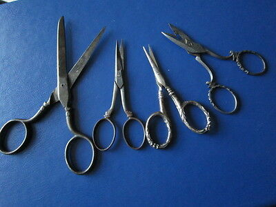 Four Antique Sewing Scissors