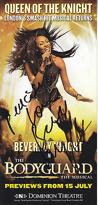 Beverley Knight Signed Theatre Leaflet