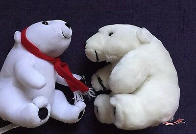 Coca Cola Bears x 2 plush