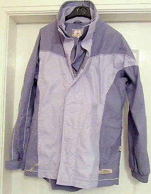 Ladies S Harry Hall Equestrian Waterproof Riding Jacket Lilac / Mauve