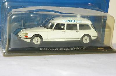 Atlas Editions 1973 Citroen Ds 20 Ambulance Die-Cast Model - Mip