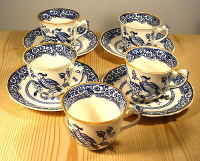 """Royal Venton """"The Homing"""" Blue & White Cups & Saucers - Selfridges"""