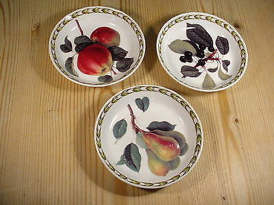 """Queen's China """"Hooker's Fruit"""" Three Small Dishes"""