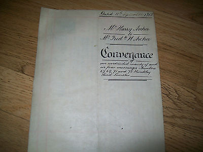 indenture. 4 messuages hinckley road leicester.1915