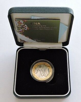2004 Royal Mint DNA £2 Silver Proof With Case And COA