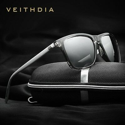 VEITHDIA Retro Aluminum mirror Polarized Sunglasses Men Women brand designer Vin