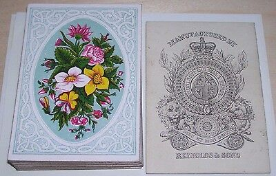 "Antique Playing Cards  "" REYNOLDS & SONS ""   Bezique  deck   c.1860s    32/32"