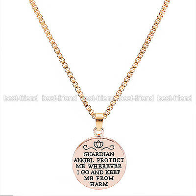 New Valentines Day Charm Pendant Chain Necklace Rose Gold Lover Couple Best Gift