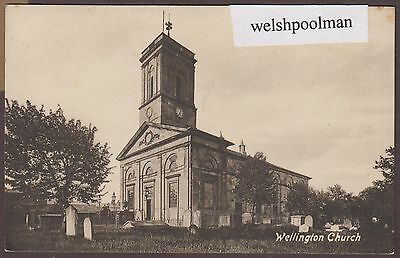 Antique Wellington Church Telford Shropshire Postcard