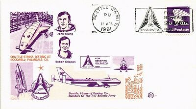 Dr Jim Stamps Us Space Shuttle Columbia Event Cover Seattle Slogan Cancel