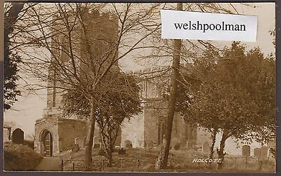 Lovely Antique Holcot Church Northamptonshire Postcard
