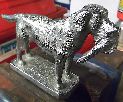 Car Bonnet Mascot / Labrador with Pheasant made by Lejeune of England