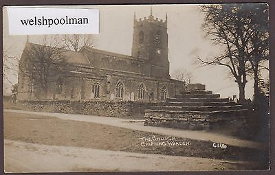 Lovely Antique The Church Chipping Nr Banbury Northamptonshire Postcard