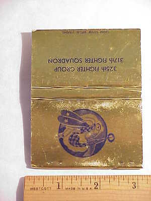 ORIGINAL WWII 317th Fighter Squadron/325th Fighter Group Matchbook