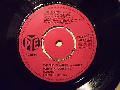 Wilfrd Brambell and Harry H Corbett......The Wages Of Sin.....45rpm