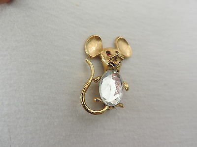 Vintage Jewelry Mouse Brooch Pin (pp905)
