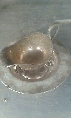 vintage silver plated  jug and tray